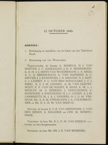 Breda - Notulen van de gemeenteraad 1945-01-01