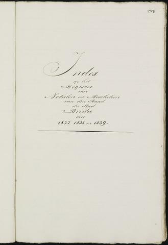 Breda - Indexen op de notulen van de gemeenteraad 1837-01-01