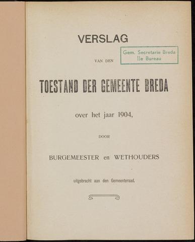 Breda - Verslagen van de toestand van de gemeente 1904-01-01