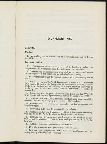 Breda - Notulen van de gemeenteraad 1960-01-01