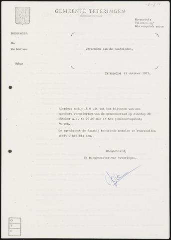 Teteringen - Notulen en bijlagen van de gemeenteraad 1975-10-28