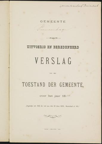 Princenhage - Verslagen van de toestand van de gemeente 1884-01-01