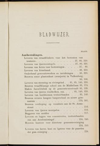 Breda - Indexen op de notulen van de gemeenteraad 1900-01-01