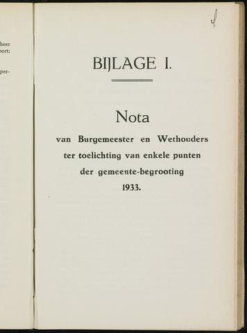 Breda - Bijlagen bij de notulen van de gemeenteraad 1932