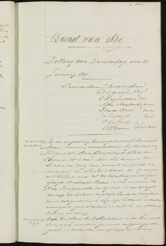 Ginneken en Bavel - Notulen van de gemeenteraad 1839-01-01