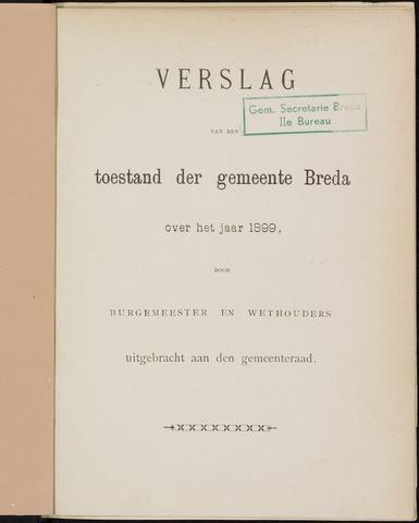 Breda - Verslagen van de toestand van de gemeente 1899