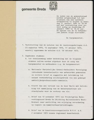 Breda - Bijlagen bij de notulen van de gemeenteraad 1980