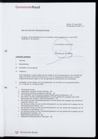 Breda - Bijlagen bij de notulen van de gemeenteraad 2009-04-02