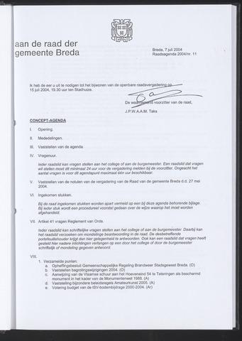 Breda - Bijlagen bij de notulen van de gemeenteraad 2004-07-07
