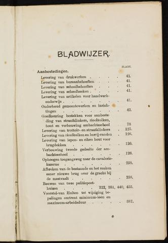 Breda - Indexen op de notulen van de gemeenteraad 1911