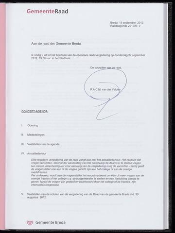 Breda - Bijlagen bij de notulen van de gemeenteraad 2012-09-27