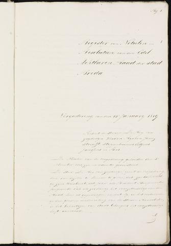 Breda - Notulen van de gemeenteraad 1819-01-01