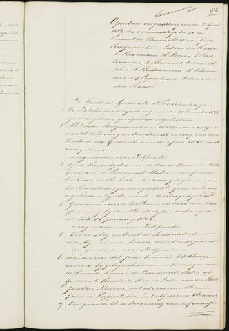 Princenhage - Notulen van de gemeenteraad 1853