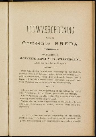 Breda - Bijlagen bij de notulen van de gemeenteraad 1904