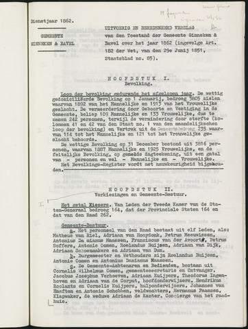 Ginneken en Bavel - Verslagen van de toestand van de gemeente 1862