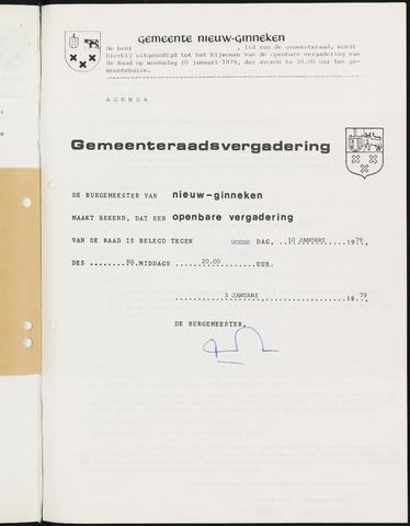 Nieuw-Ginneken - Notulen en bijlagen van de gemeenteraad 1979