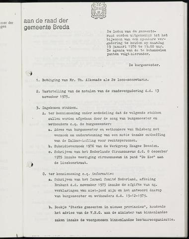 Breda - Bijlagen bij de notulen van de gemeenteraad 1976