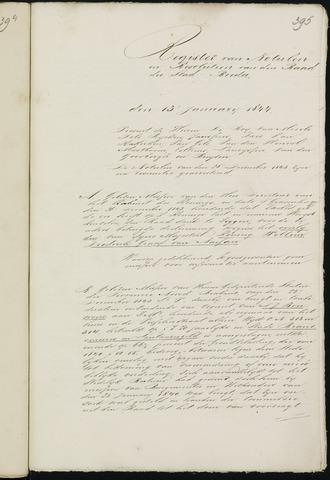 Breda - Notulen van de gemeenteraad 1844-01-01