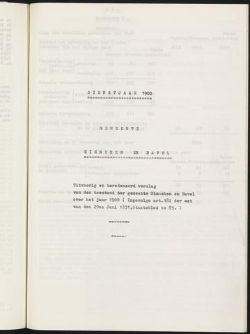 Ginneken en Bavel - Verslagen van de toestand van de gemeente 1900