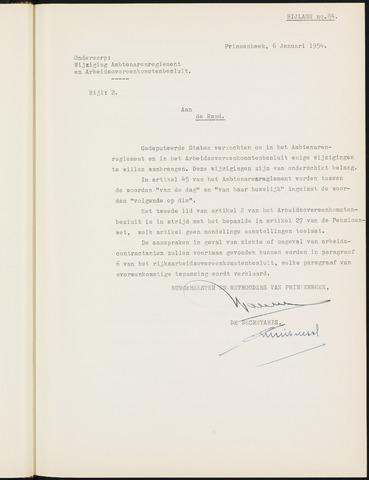 Prinsenbeek - Bijlagen bij de notulen van de gemeenteraad 1954