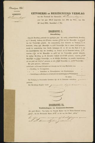 Princenhage - Verslagen van de toestand van de gemeente 1855-01-01
