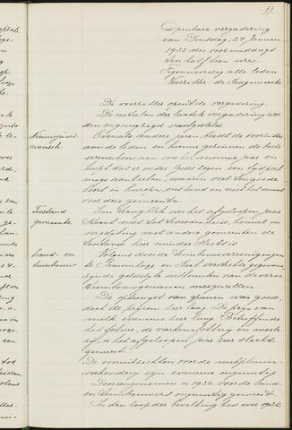 Princenhage - Notulen van de gemeenteraad 1933-01-01