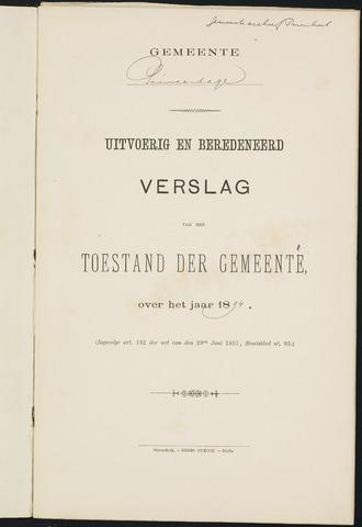 Princenhage - Verslagen van de toestand van de gemeente 1894-01-01