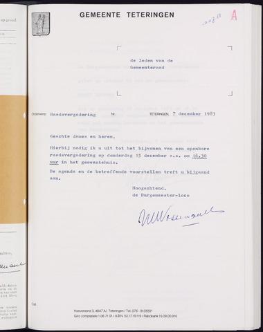 Teteringen - Notulen en bijlagen van de gemeenteraad 1983-12-15