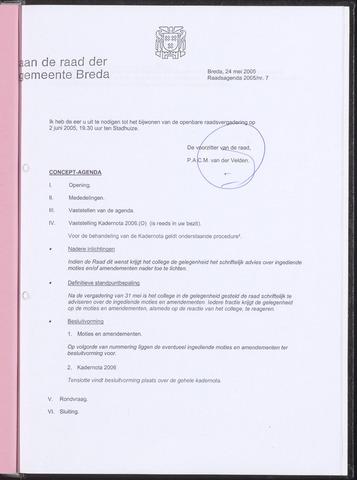 Breda - Bijlagen bij de notulen van de gemeenteraad 2005-05-24