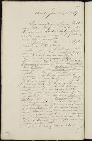 Breda - Notulen van de gemeenteraad 1879