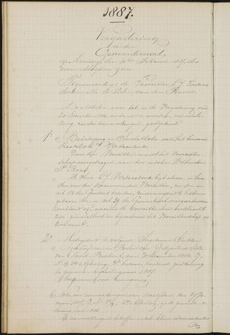 Teteringen - Notulen en bijlagen van de gemeenteraad 1887