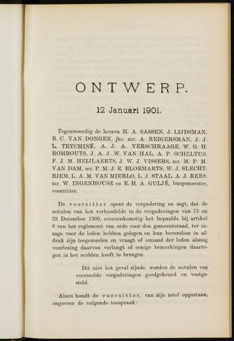 Breda - Notulen van de gemeenteraad 1901
