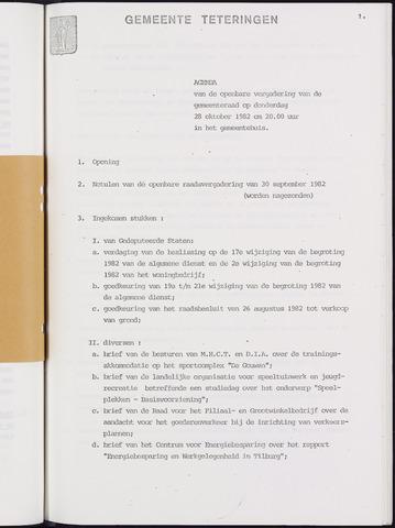 Teteringen - Notulen en bijlagen van de gemeenteraad 1982-10-29