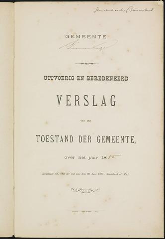 Princenhage - Verslagen van de toestand van de gemeente 1885