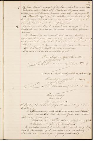 Teteringen - Notulen en bijlagen van de gemeenteraad 1907