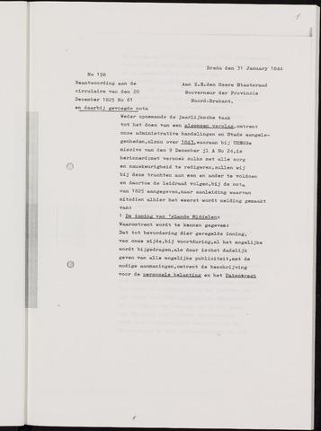 Breda - Verslagen van de toestand van de gemeente 1843-01-01
