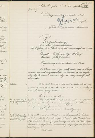 Teteringen - Notulen en bijlagen van de gemeenteraad 1933