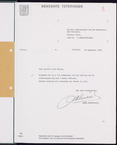 Teteringen - Notulen en bijlagen van de gemeenteraad 1983-09-09
