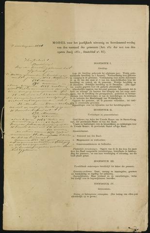Teteringen - Verslagen van de toestand van de gemeente 1851