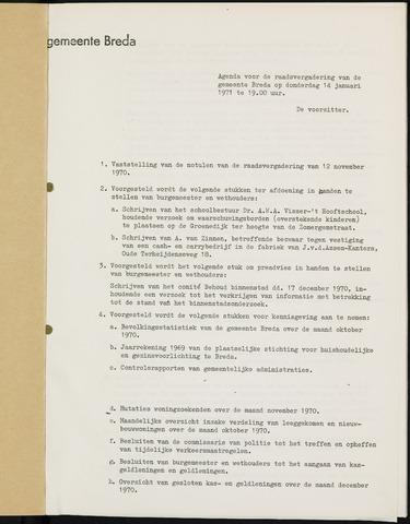 Breda - Bijlagen bij de notulen van de gemeenteraad 1971