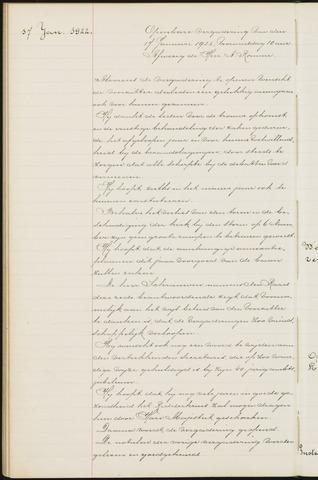 Princenhage - Notulen van de gemeenteraad 1922-01-01