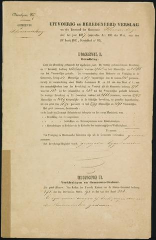 Princenhage - Verslagen van de toestand van de gemeente 1857-01-01