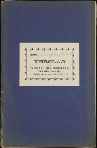 Ginneken en Bavel - Verslagen van de toestand van de gemeente 1891