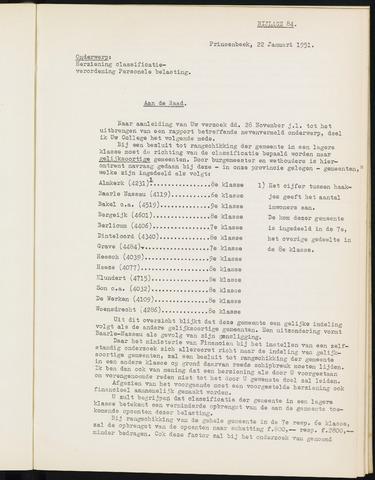 Prinsenbeek - Bijlagen bij de notulen van de gemeenteraad 1951