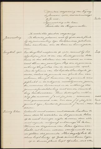 Princenhage - Notulen van de gemeenteraad 1932-01-01