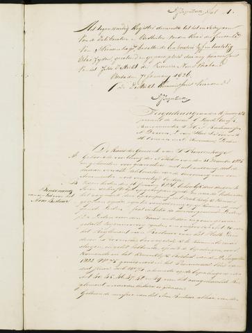Princenhage - Notulen van de gemeenteraad 1826-01-01