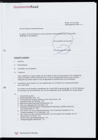 Breda - Bijlagen bij de notulen van de gemeenteraad 2009-06-03