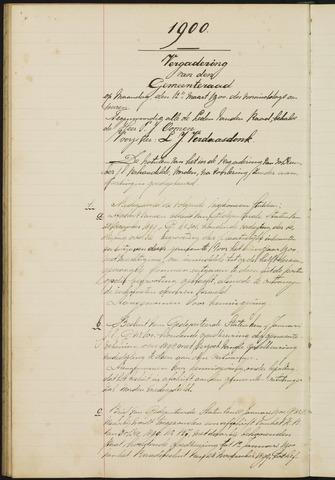 Teteringen - Notulen en bijlagen van de gemeenteraad 1900