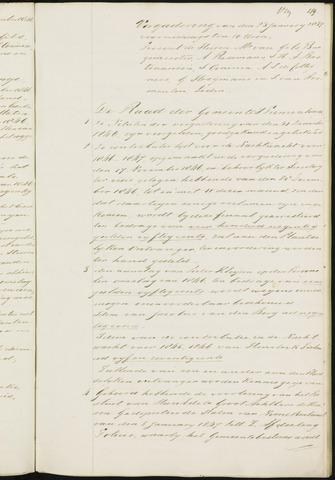 Princenhage - Notulen van de gemeenteraad 1847-01-01
