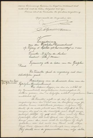Teteringen - Notulen en bijlagen van de gemeenteraad 1945